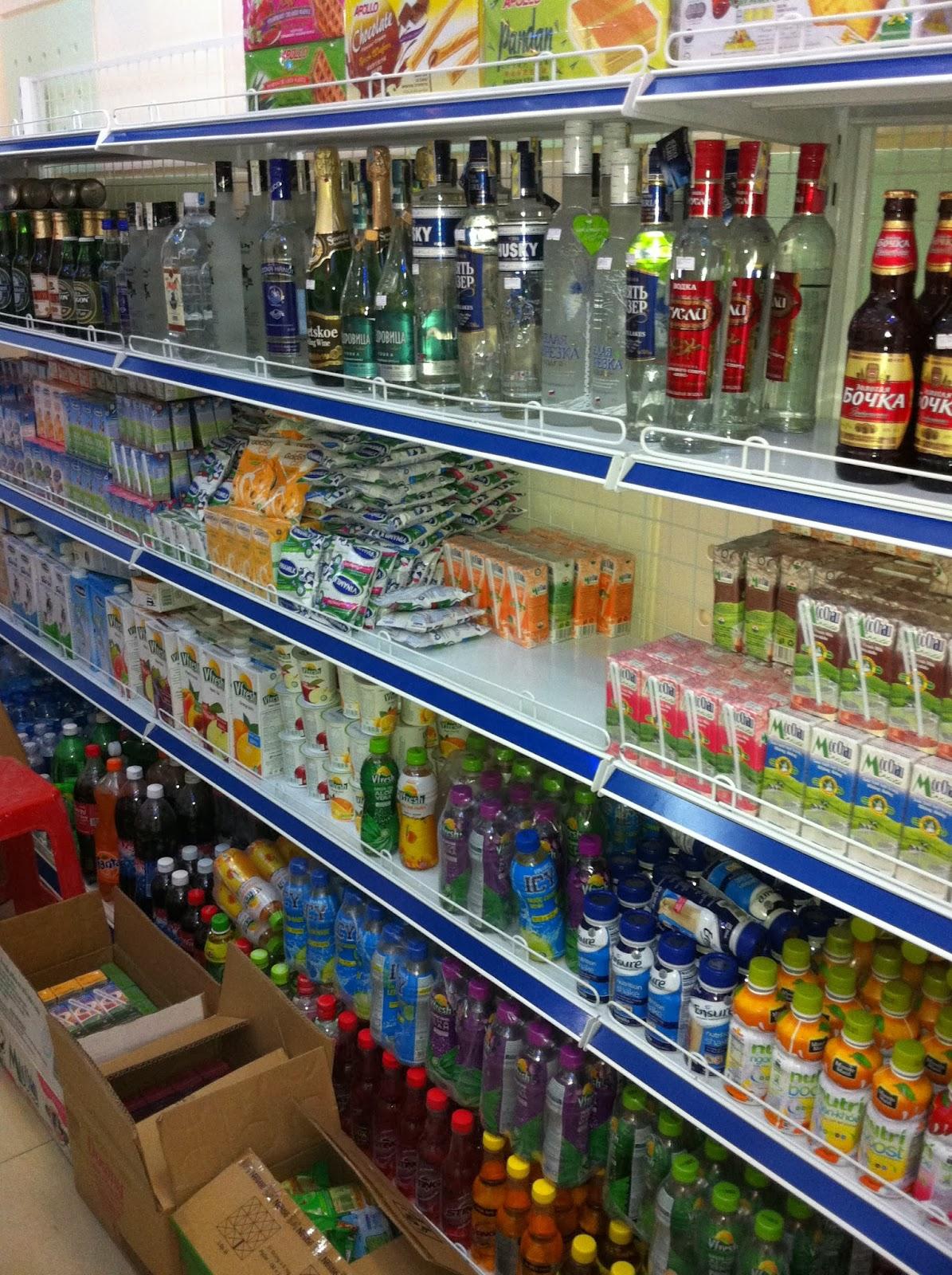 Giá kệ kho siêu thị chứa bia rượu